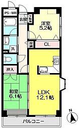 KURA 〜蔵〜[2階]の間取り