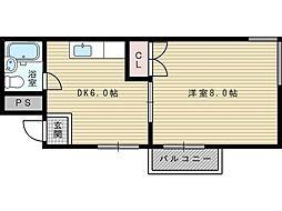 豊島ハイツ[4階]の間取り