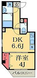 JR京葉線 蘇我駅 徒歩4分の賃貸マンション 3階1DKの間取り