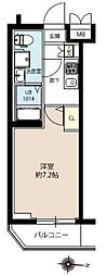 JR常磐線 亀有駅 徒歩10分の賃貸マンション 4階1Kの間取り