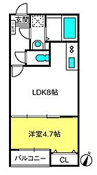 T.Aさいたま市中央区上峰2丁目 1階1LDKの間取り