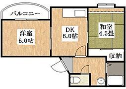 白鳳レイク[2階]の間取り