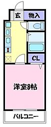 アンシャンテ深井[4階]の間取り