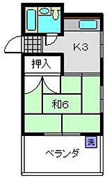 神奈川県横浜市磯子区丸山1丁目の賃貸マンションの間取り