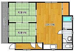 トミナガアパート[1階]の間取り