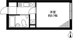 フラットK柿の木坂[103号室]の間取り