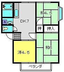 神奈川県横浜市瀬谷区宮沢2丁目の賃貸アパートの間取り