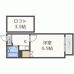飯倉Part1A棟[102号室]の間取り