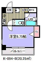 千葉県市川市行徳駅前1の賃貸マンションの間取り