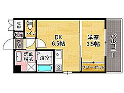 ルネッサンス21別府[7階]の間取り
