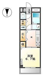 JR常磐線 我孫子駅 徒歩5分の賃貸マンション 1階1Kの間取り