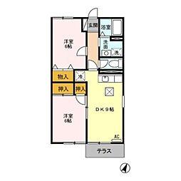 新潟県新潟市北区すみれ野2丁目の賃貸アパートの間取り