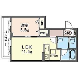 仮)武蔵野市西久保2丁目シャーメゾン 1階1LDKの間取り