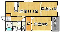 (仮)多々良IIアパート[303号室]の間取り