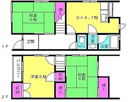 中島ヤングハイツ[107号室]の間取り