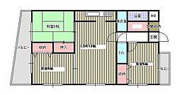 エトワール津田[301号室]の間取り