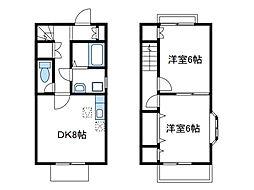 [テラスハウス] 神奈川県厚木市下依知2丁目 の賃貸【/】の間取り