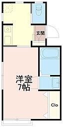 ハイツ恵[1階]の間取り
