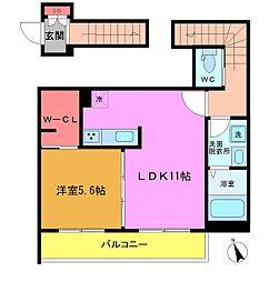 (仮)八幡5丁目シャーメゾン[201号室]の間取り