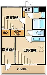 ライムランド(増築) 3階1LDKの間取り