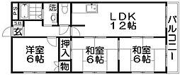 東香里ハーモニープラザ[2階]の間取り
