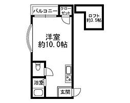 フレール井尻[105号室]の間取り