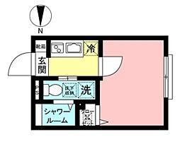Maison Blanche(メゾンブランシェ) 1階1Kの間取り