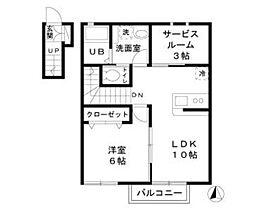 埼玉県三郷市新和5丁目の賃貸アパートの間取り