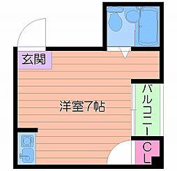 サン高倉[5階]の間取り