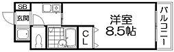 ライフハイム須賀[2階]の間取り
