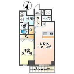 泉北高速鉄道 和泉中央駅 徒歩7分の賃貸マンション 2階1LDKの間取り