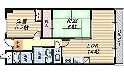 メゾンサンテ[2階]の間取り