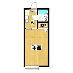 コージーハウス228B[1階]の間取り