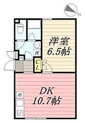 PASEO代田橋 5階1LDKの間取り