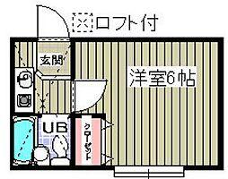 千葉県浦安市東野2の賃貸アパートの間取り