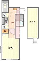 Haus Solana 1階1Kの間取り