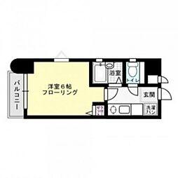 福岡県福岡市中央区春吉2丁目の賃貸マンションの間取り