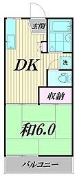 東京都杉並区高井戸東2丁目の賃貸アパートの間取り