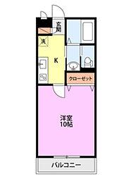 BUENA堀之内南3B棟 3階1Kの間取り
