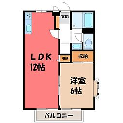 サンイーグル D棟[2階]の間取り
