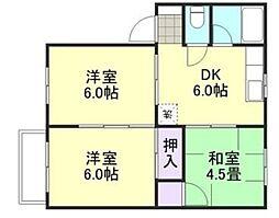 カーサ寿[2階]の間取り