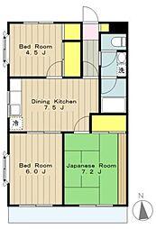 橋本フラワーマンション[103号室]の間取り
