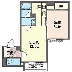 仮)渋谷区恵比寿2丁目シャーメゾン 1階1LDKの間取り