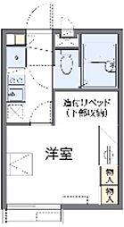 東急田園都市線 たまプラーザ駅 徒歩24分の賃貸アパート 1階1Kの間取り