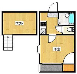 タートル飯倉[2階]の間取り