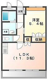 大阪府堺市中区辻之の賃貸アパートの間取り
