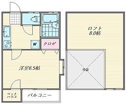 ティアラ箱崎[2階]の間取り