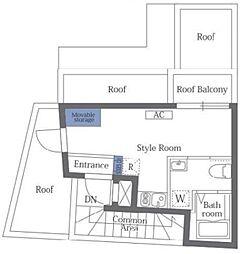 プレミア中野野方 地下5階ワンルームの間取り