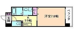 Osaka Metro谷町線 野江内代駅 徒歩5分の賃貸マンション 3階1Kの間取り