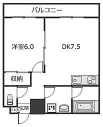 東京都大田区大森北4丁目の賃貸マンションの間取り